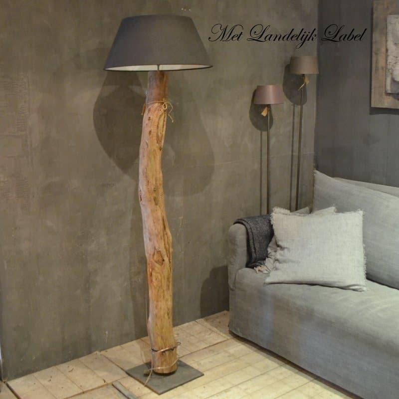 Iets Nieuws Houten boomstam lamp Nr.04 - Met Landelijk Label @FP24