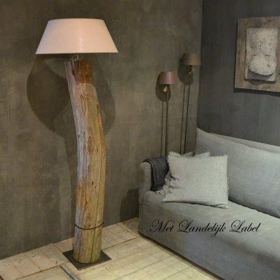 SALE Houten boomstam lamp Nr.03