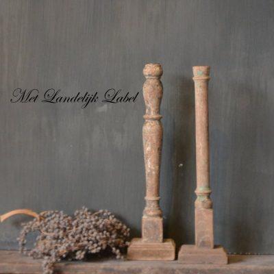 Houten kandelaars M + gratis pakje kaarsen