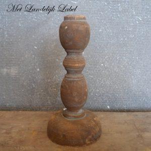 Oud hout kandelaar XS