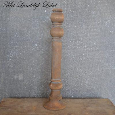 Oud hout kandelaar M + gratis pakje kaarsen