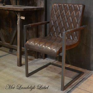 Oude industriële meubels - Industriële eetkamerstoel velazquez