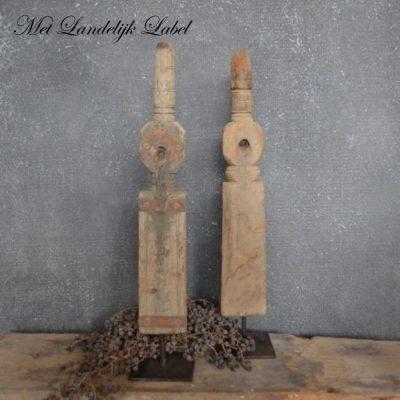 Houten ornament Nr. 5 + gratis pakje kaarsen