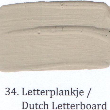 34. Letterplankje