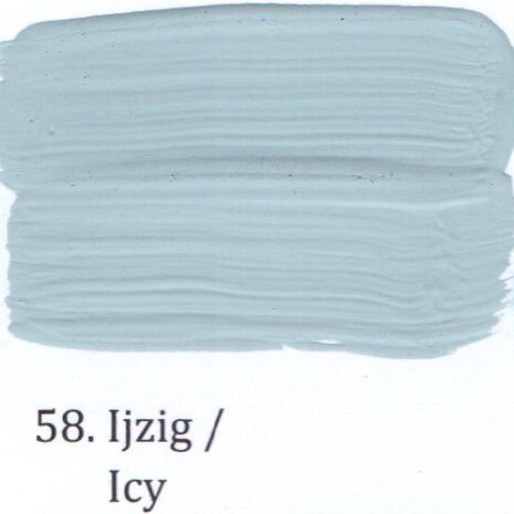 58. Ijzig
