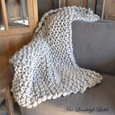 Plaid Knit Beige