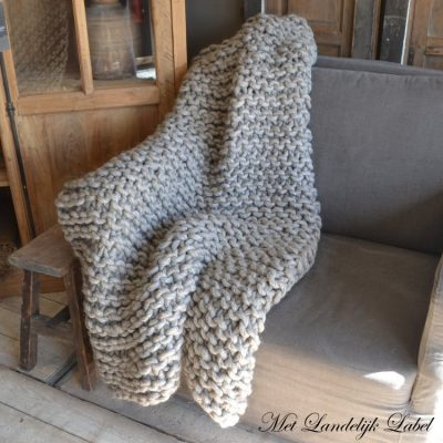 Plaid Knit Grijs/Bruin