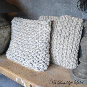 Kussen Knit Beige